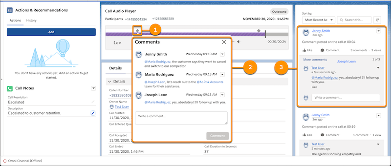Collaborate on call Recording