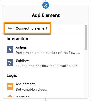 """Screenshot of the """"connect to element"""" functionality from the Release Notes"""